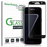 amFilm Glass Screen Protector for Galaxy S7 EdgeTempered Glass, Dot Matrix, Full Screen Coverage