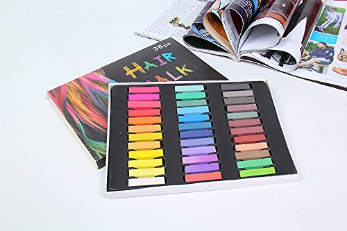 Temporary Hair Dye Color Non-Toxic Soft Pastels Chalk Colourful Hair Chalk Pens. Temporary Colour for Girls for All Ages. Makes a Great Birthday Gift (36 color) by BingHang (Image #2)
