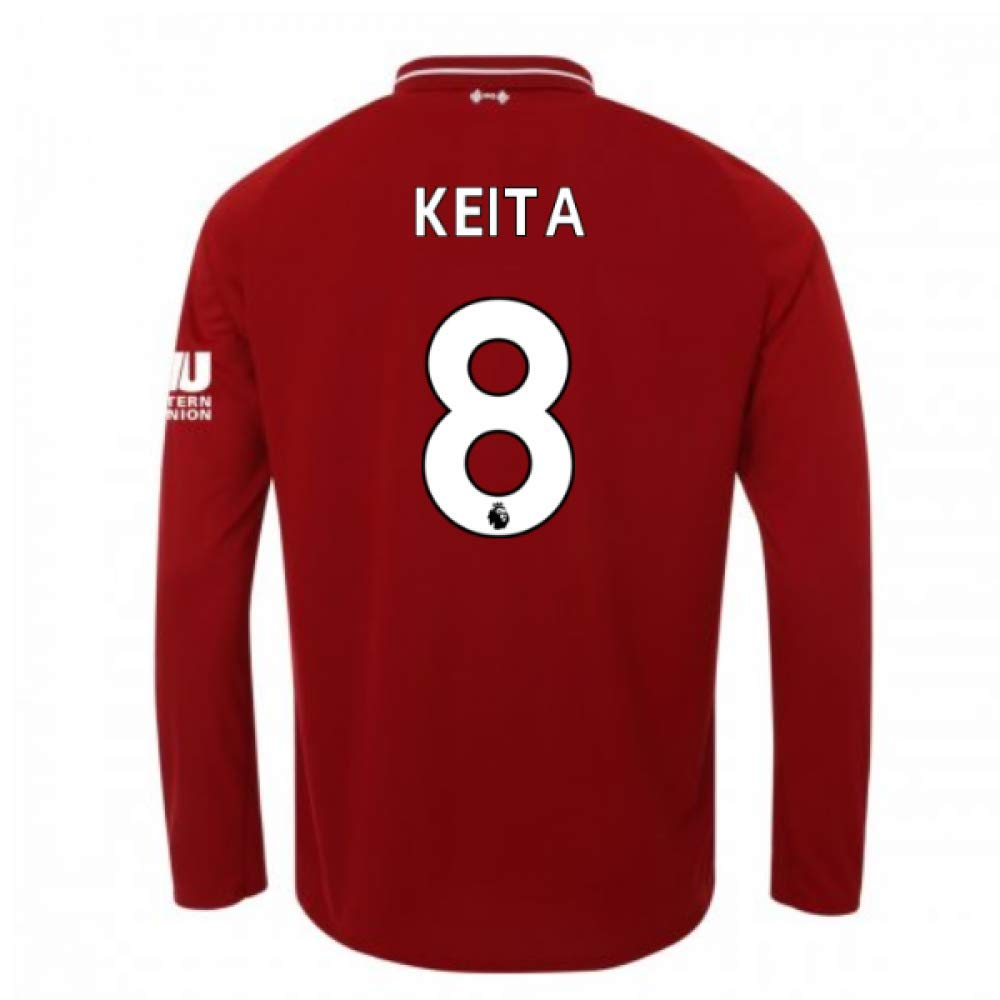 2018-2019 Liverpool Home Long Sleeve Football Soccer T-Shirt Trikot (Naby KeïTA 8)