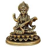 Religious Statues of Hindu Goddess Sarasvati in Brass
