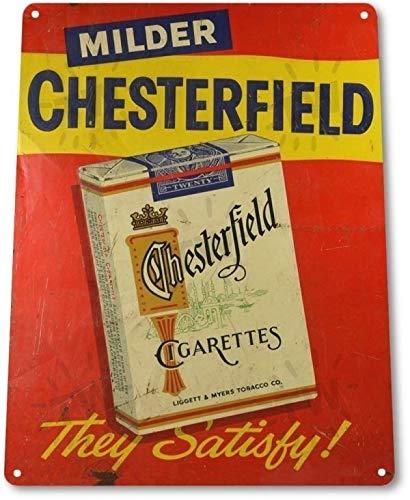 Chesterfield Cigarettes - Chesterfield Cigarettes Tobacco Smoking Retro Wall Decor Man Cave Metal Tin Sign TIN Sign 7.8X11.8 INCH