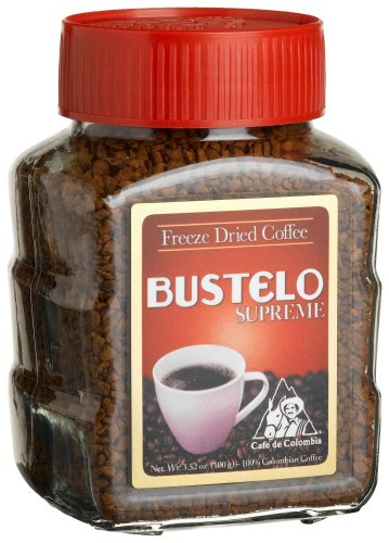 Bustelo Supreme Regular Freeze-Dried Instant Coffee, 3.52-Ounce Jars (Pack of 4)