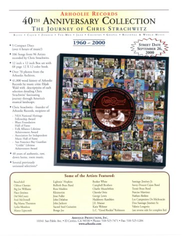 Arhoolie Records 40th Anniversary Collection: The Journey Of Chris Strachwitz 1960-2000 by Various