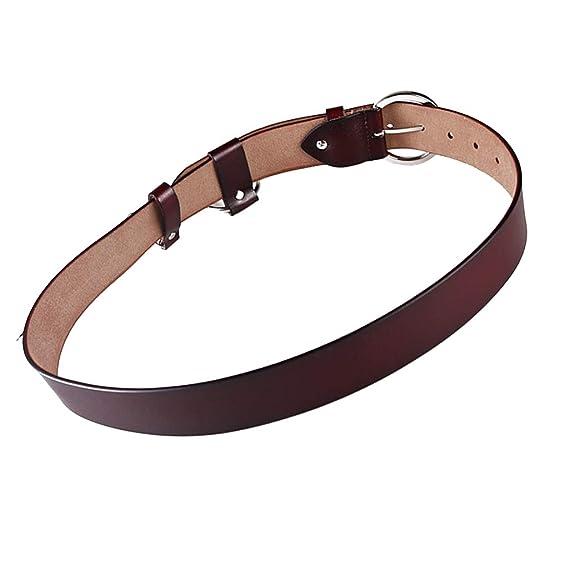 B Baosity Cinturón de Cuero Ajustable con Anillo de Metal para ...