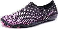 Sixspace Unisex Strandschuhe Aquaschuhe Schwimmschuhe Badeschuhe Wasserschuhe Surfschuhe für Damen Herren, Schwarz 39 EU