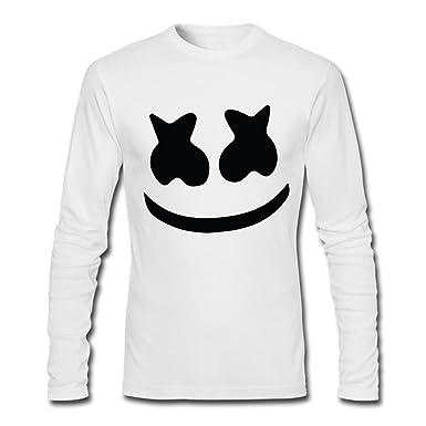 3b3fe40f678 Men s Marshmello face original Tour DJ Long sleeve t-shirt Large White