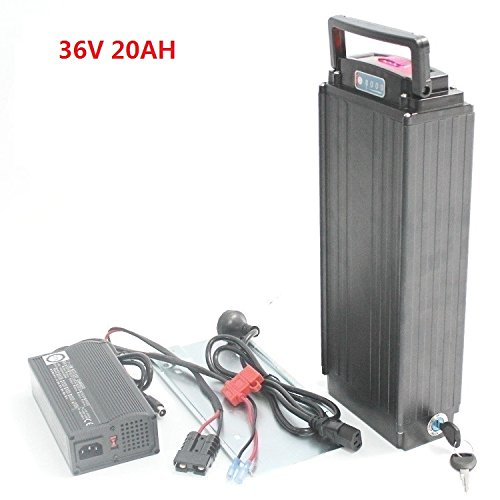 36V 20AH OEM Cell Rear Rack Rear Carrier Flat Aluminium Case Li-ion Battery With 5A Charger and BMS for ebike Electric Bike
