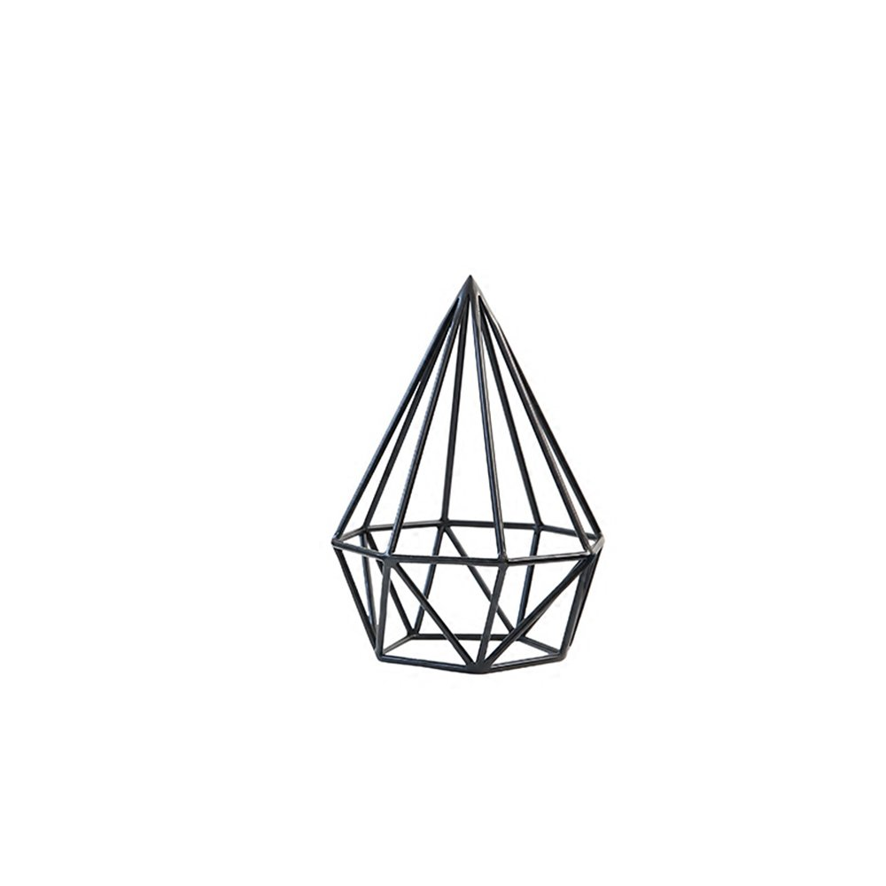 LXZXZ - Minimalist Creative Drapery Wrought Iron Gift Ornaments Geometric Ornaments Cafe Hotel Living Room Home Decorations Lucky Decorations (Color : Small)