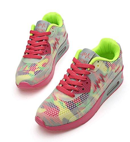 No.66 Town Womens Air Casual Walking Running Shoes Fashion Sneaker #952 Pink NZV0Fd