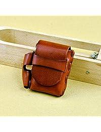 Men's Cigarette Case Retro Rope Original Handmade Leather Resin Skin Vegetable Tanned Ultra Light Portable Cigarettes Box