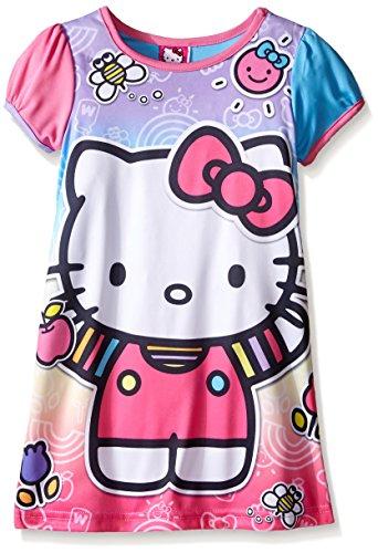 Hello Kitty Big Girls Rainbow Fun Nightgown Multi 8