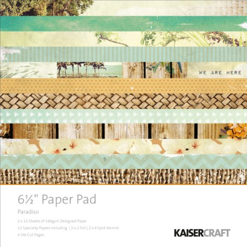 Kaisercraft PP924 Paper Pad, 6.5 by 6.5-Inch, Paradiso, 40-Pack