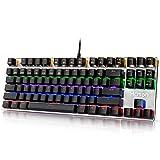 Hcman Mechanical Keyboard Blue Switches,Gaming Keyboard Led Backlit For Computer PC & Mac Gamers 87 Keys (Black)