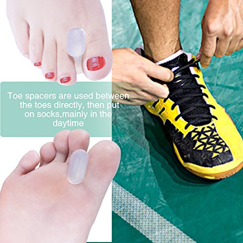 Welnove Gel Toe Spacers Toe Separators for Bunion,Overlapping Toes-10 PCS by Welnove (Image #2)