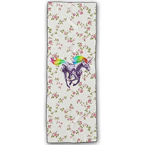 [POY-SAIN Rainbow Unicorn Yoga Towel Mat SizeOne Size White] (Lightning Strike Costume)