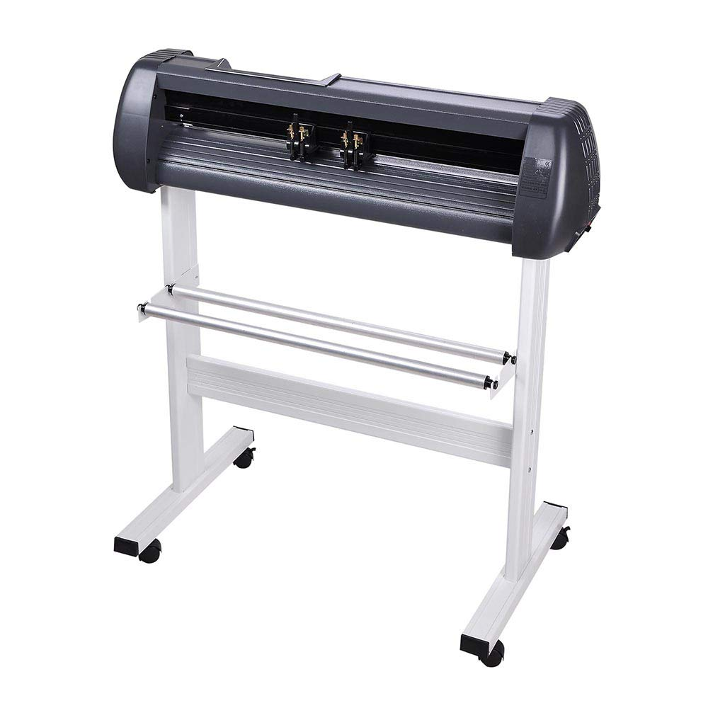 Cutting Plotter Vinyl Cutter Machine 28'' Adjustable Width with LCD Display USB Connection Auto Memory Digital Force Speed Rotating Blade Holder Stepper Motor US Delivery by ZeHuoGe (Image #4)