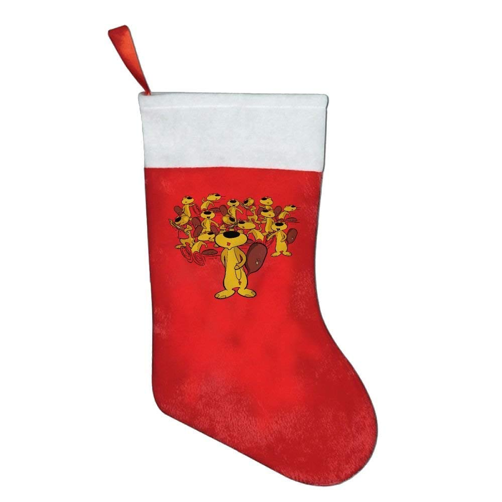 Lovexue Beavers Bite Woods Felt Christmas Stocking Party Accessory