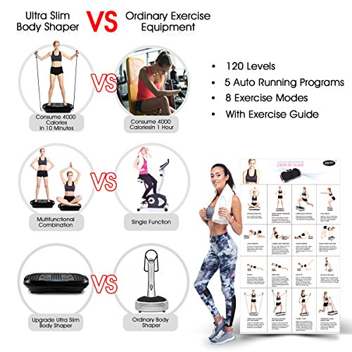 GENKI YD-1015B Bluetooth Vibration Platform Fitness Machine with 2 Bands &Remote, Max User Weight 330Lbs by GENKI (Image #2)