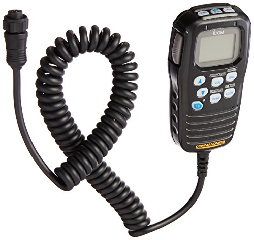 Icom HM-157B CommandMic Remote Marine Microphone (Black)