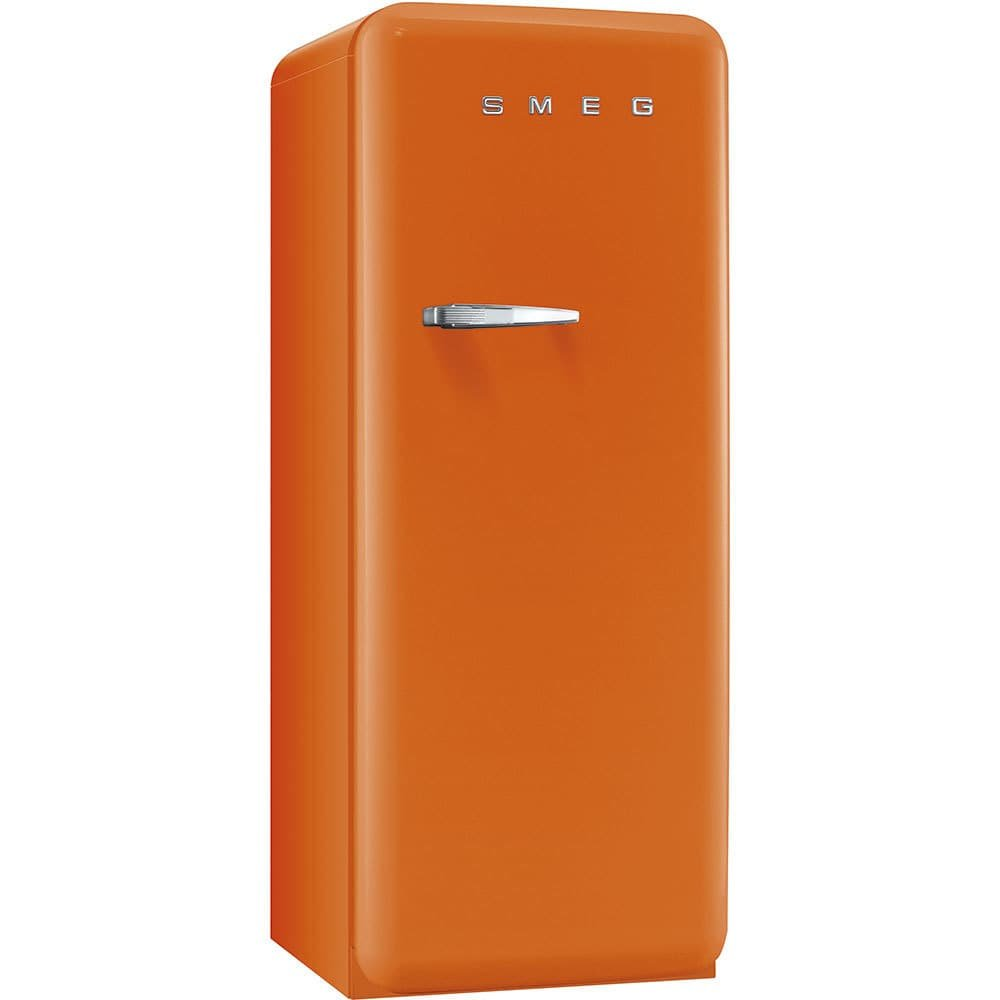 Smeg FAB28UORR1 50s Style 9.2 Cubic Feet Orange Right-hand Refrigerator with Freezer Compartment