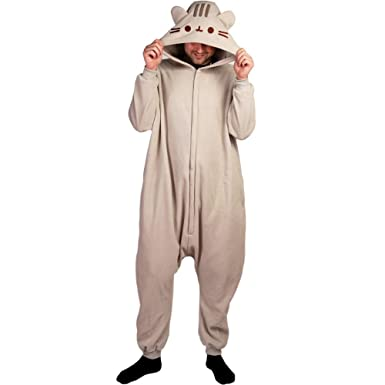 a3987c875ce7 Amazon.com  Pusheen Kigurumi Hooded One Piece Zip-up Suit Costume ...