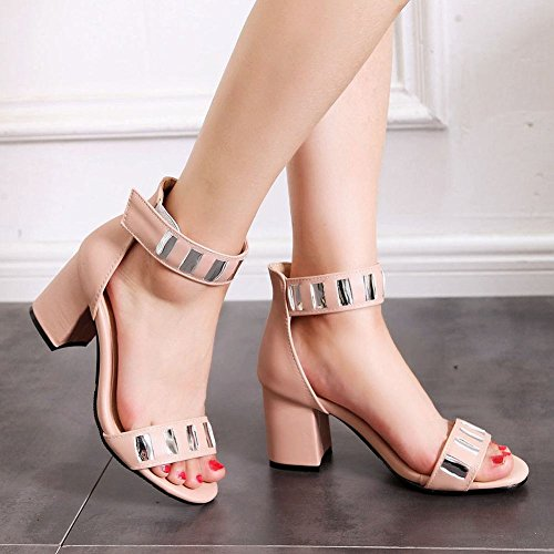 Sandal Pink Toe Strap Womens Ankle Summer Charm Open Foot nAO0n8R