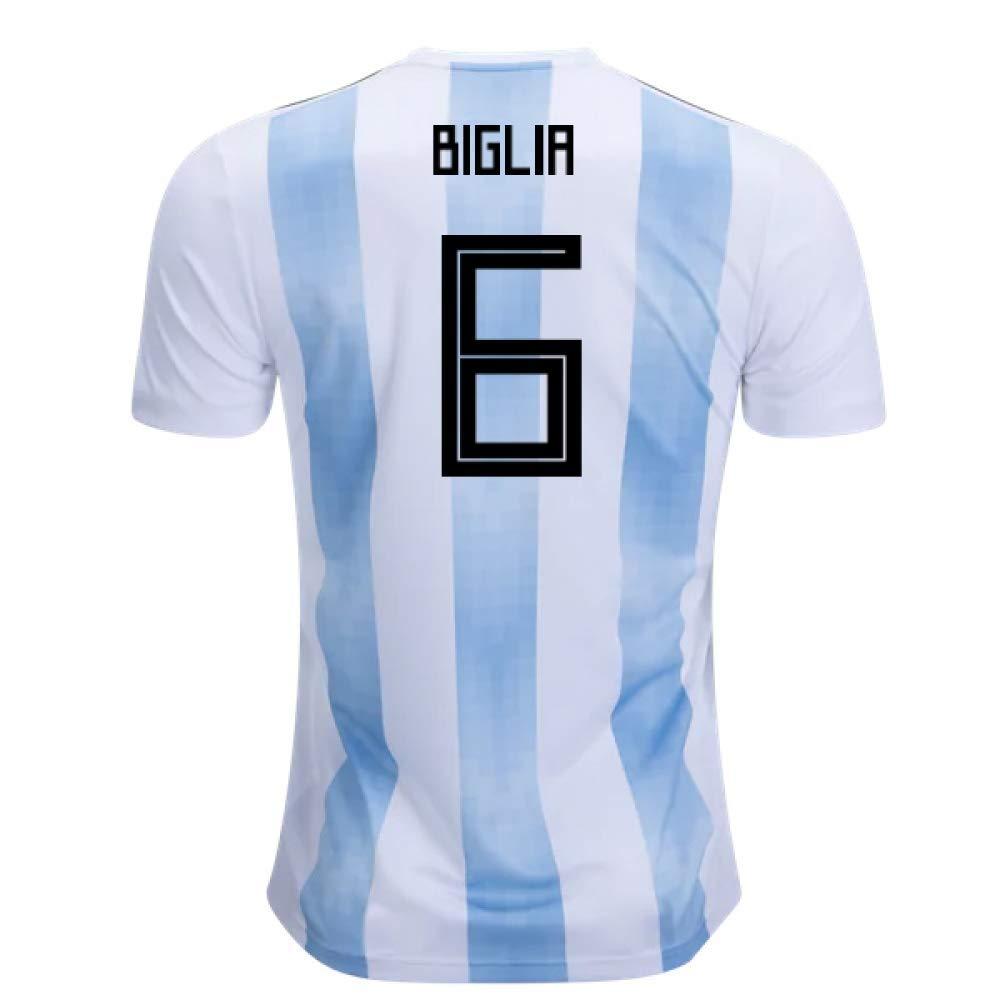 2018-19 Argentina Home Football Soccer T-Shirt Trikot (Lucas Biglia 6) - Kids
