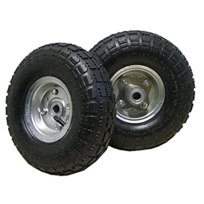 2-x-10-Pneumatic-Tyre-4135-4-260x85-mm-Replacement-Wheel-for-Wheelbarrow-Sack-Truck-Hand-Trolley-Cart-Black