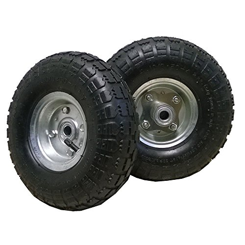 2-x-10-Pneumatic-Tyre-4135-4-260x85-mm-Replacement-Wheel-for-Wheelbarrow-Sack-Truck-Hand-Trolley-Cart-Black
