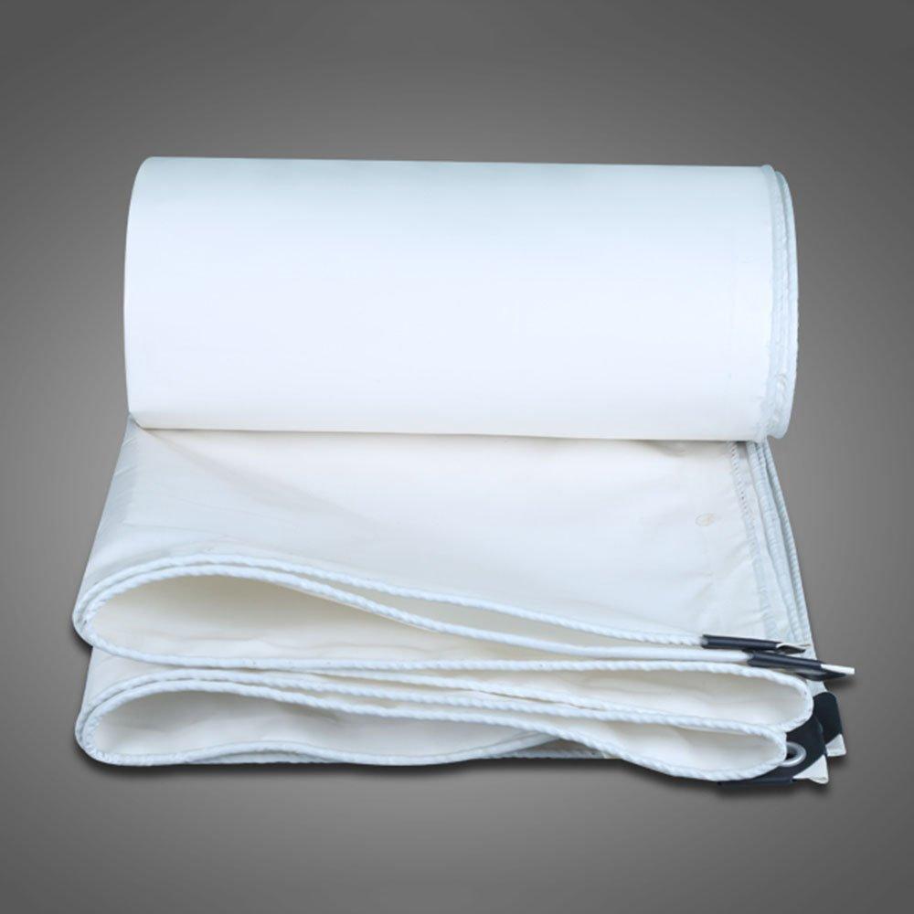 Tarpaulin HUO Weiße Plane-Blätter, Wasserdichtes Überdachungs-Segeltuch, Anti-UV-Riss-Widerstand Für LKW-Stärke 0.35mm  (Farbe  0.35mm  Weiß, Größe   58m) 97e6cb