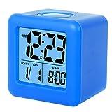 SkyNature Clocks for Kids,Digital Alarm Clocks,12/24 Hours,Large Numbers LED Display with Nightlight, Alarm, Snooze,Calendar for Children's Bedrooms,Blue Clocks