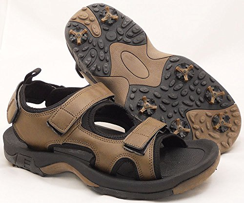 new-mens-rj-sports-sandals-golf-shoes-brown-sz-12m-ret-50