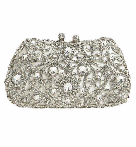 Tasha Crystal Rhinestone Princess Clutch, Bags Central