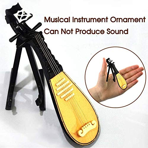 ZAMTAC Mini Cello/Bass Guitar/Lute/Accordion/Zither Model Musical Instrument Replica Ornaments Home Desktop Decoration - (Color: Accordion Model-B) by ZAMTAC (Image #3)