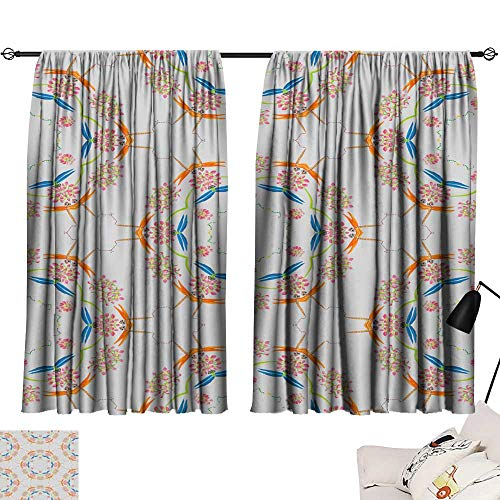 SINXY&CASE Curtain Set Abstract Seamless Colorful Wallpaper Texture background11 54
