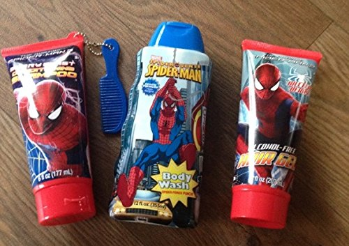 Buy Spider Man Spiderman 3 Pc Bath Set Shampoo Body Wash Hair Gel