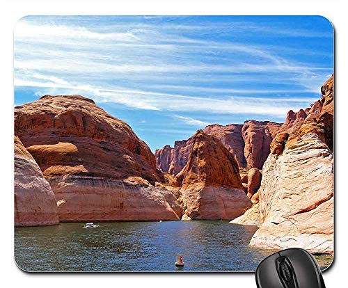 CANCAKA Mouse Pads - Lake Powell Page Arizona Water Reservoir Landscape Non-Slip Mouse pad