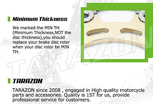 TARAZON Front Brake Discs Rotors and Pads Kit for Yamaha YZF R6 2005-2016