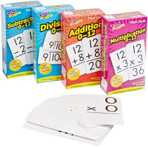 Trend Enterprises Math Operations Flash Cards Pack - Set of 4