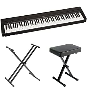yamaha p71 88 key weighted action digital piano with sustain pedal power supply. Black Bedroom Furniture Sets. Home Design Ideas