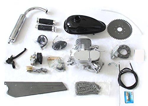 80cc Bike Bicycle Motorized 2-Stroke Cycle Gas Motor Silver Engine Kit Set