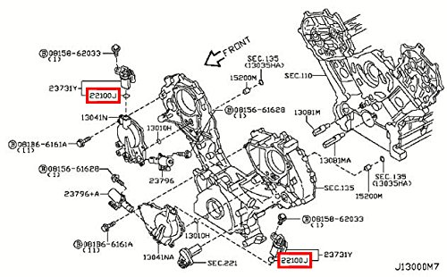 Amazon com: Infiniti 22131-4M505, Engine Crankshaft Position