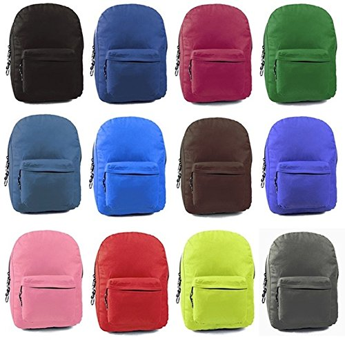 """DD 17"""" School Backpack - Assorted Colors(pack Of 24) from D&D"""