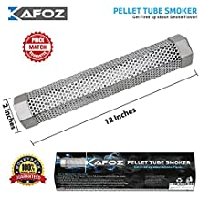 "Pellet Smoker Tube 12"" - 5 Hours of Billowing Smoke - for any Grill or Smoker, Hot or Cold Smoking - Easy, Safe and Tasty Smoking"