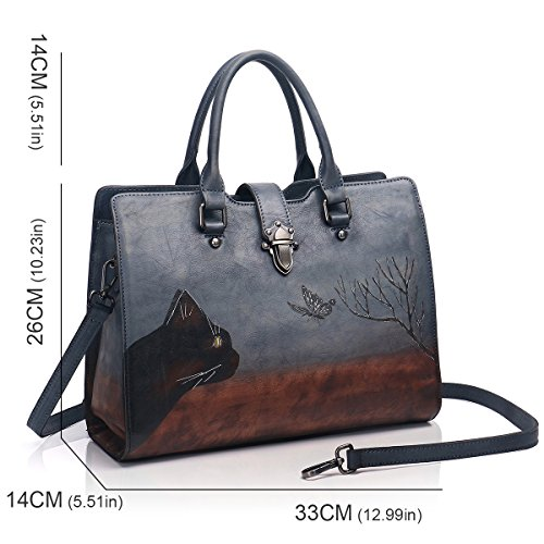 Shoulder Ladies Bags APHISON Satchels Soft Women Handbags Designer 8196gray Leather for Totes qp0qA1zw