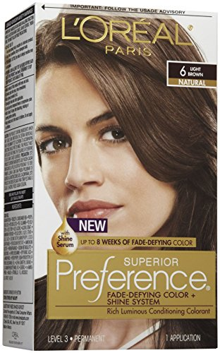Price comparison product image L'Oreal Paris Superior Preference Fade-Defying Color + Shine System, 6 Light Brown(Packaging May Vary)