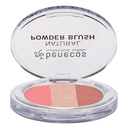 Benecos Natural Trio Powder Blush – contains Blush, Bronzer and Highlighter – Gives Light, Natural Look – for Fair to Medium Skin Tone