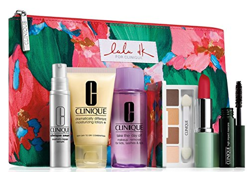 Clinique Skin Care Makeup 7 Pc Gift Set 2015 Winter Smart Custom-Repair Serum & More (Autumn Days)
