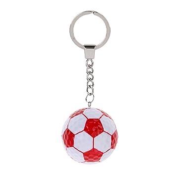 Sharplace Llavero Bola Regalo Deportivo Accesorio de Decoracion de Bolsa Duradero - Fútbol Rojo