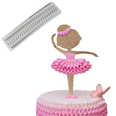 joinor silicona Chocolate Fondant decoración de pasteles Moldes Pastel Waves Pastel de encaje fondant molde frontera molde para tarta para falda: Amazon.es: ...